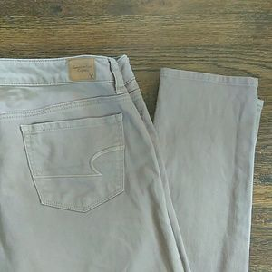 American Eagle stretch skinny light brown jeans
